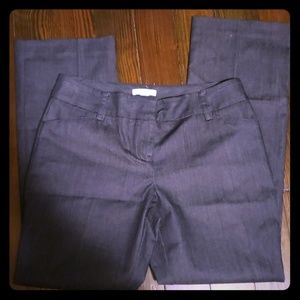 New york and company denim color dress pants 6p